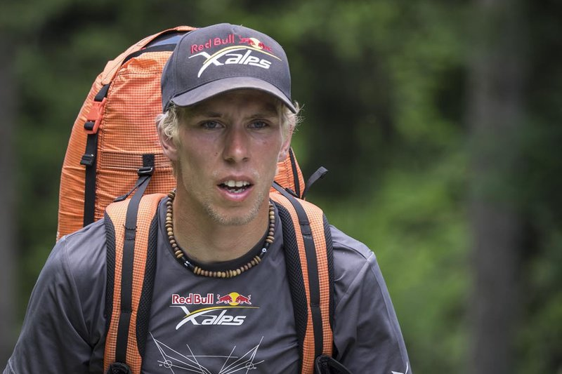 Stanislav Mayer (CZE) performs during the Red Bull X-Alps in Iserables, Switzerlan on July 13th 2015
